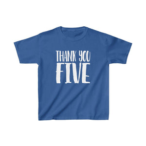 Thank You Five - Youth Heavy Cotton Tee Royal / Xs Kids Kids Clothes