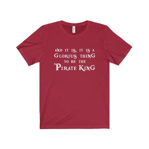 The Pirate King (Pirates Of Penzance) - Unisex Jersey Short Sleeve Tee Canvas Red / Xs Men Women T-Shirt
