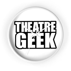 Theatre Geek - Wall Clock 10 In / White / White Home Decor