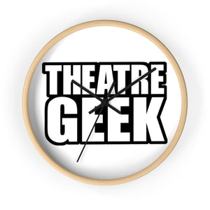 Theatre Geek - Wall Clock 10 In / Wooden / Black Home Decor