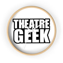 Theatre Geek - Wall Clock 10 In / Wooden / White Home Decor