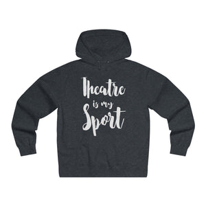 Theatre Is My Sport - Mens Lightweight Pullover Hooded Sweatshirt Charcoal Heather / Xs Hoodie