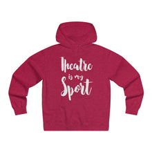 Theatre Is My Sport - Mens Lightweight Pullover Hooded Sweatshirt Red Heather / Xs Hoodie