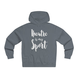 Theatre Is My Sport - Mens Lightweight Pullover Hooded Sweatshirt Solid Charcoral / Xs Hoodie
