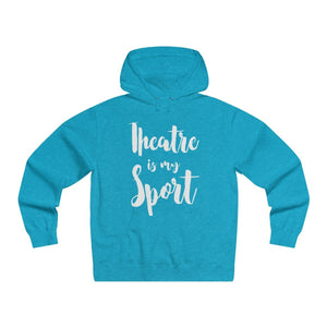 Theatre Is My Sport - Mens Lightweight Pullover Hooded Sweatshirt Turquoise Heather / Xs Hoodie