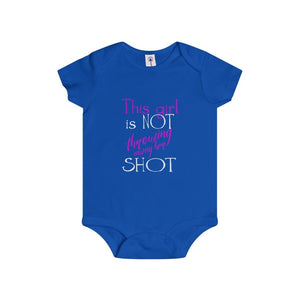"""This Girl is NOT Throwing Away Her SHOT"" - Infant Rip Snap Tee - Theatre Geek Shirts & Apparel"