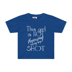 """This Girl is NOT Throwing Away Her SHOT"" - Kids Tee - Theatre Geek Shirts & Apparel"