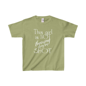 This Girl Is Not Throwing Away Her Shot - Youth Heavy Cotton Tee Kiwi / Xs Kids Clothes