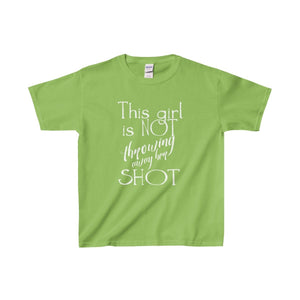 This Girl Is Not Throwing Away Her Shot - Youth Heavy Cotton Tee Lime / Xs Kids Clothes