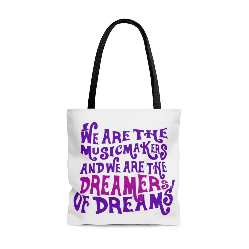 We Are The Music Makers And We Are The Dreamers Of Dreams (Willy Wonka) - Tote Bag Large Bags