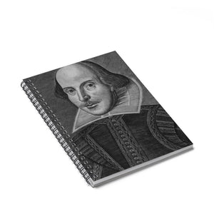 William Shakespeare - Spiral Notebook - Ruled Line Paper Products