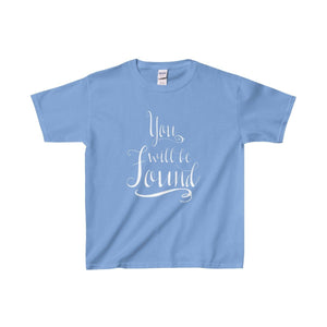 You Will Be Found - Youth Heavy Cotton Tee Carolina Blue / Xs Kids Clothes