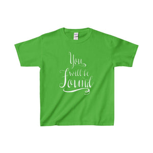 You Will Be Found - Youth Heavy Cotton Tee Electric Green / Xs Kids Clothes