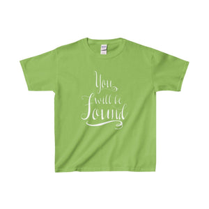 You Will Be Found - Youth Heavy Cotton Tee Lime / Xs Kids Clothes