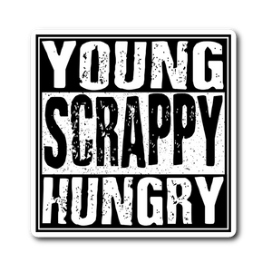Young Scrappy Hungry (Hamilton) Sticker Sticker Stickers