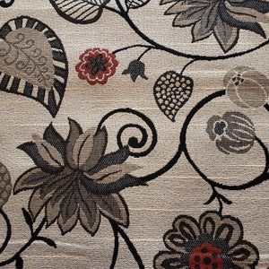Large Floral Fabric in Neutrals