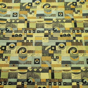Jade Gold Art Deco Fabric