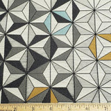 Large Bright Star in Dark Gray Fabric