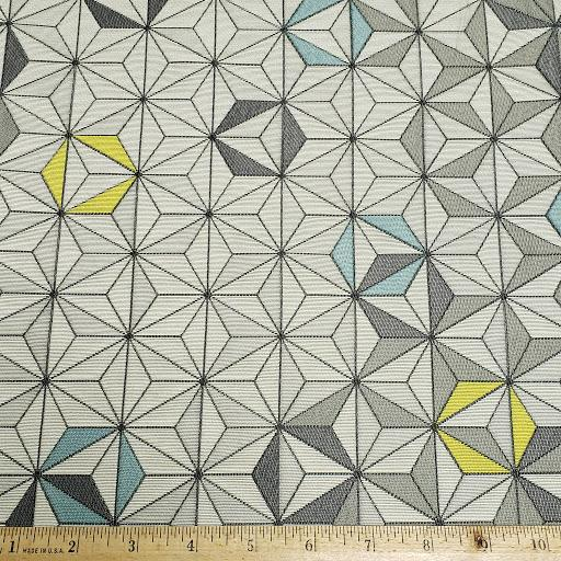 Large Bright Star in Gray Fabric