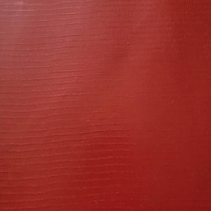 Crimson Faux Leather