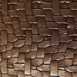 Bronze Metallic Wicker Faux Leather