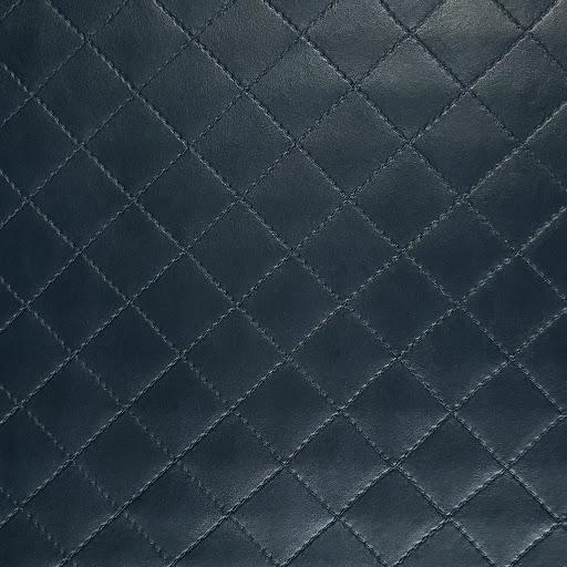 Navy Quilt Faux Leather