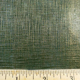 Green Gold Grid Faux Leather