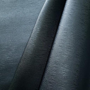 Striated Navy Faux Leather Foot Long