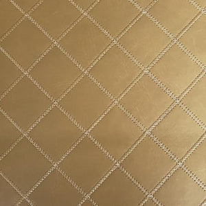 Diamond Plate Stitched Faux Leather