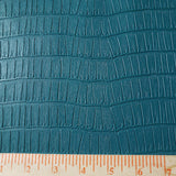 Teal Grained Faux Leather