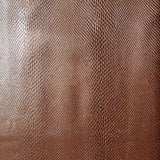 Copper Snakeskin Textured Faux Leather