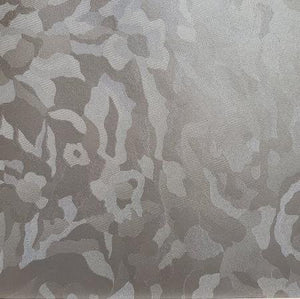 Silver Metallic Floral Patterned Vinyl Foot Long