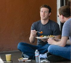 Mark Zuckerberg Eating