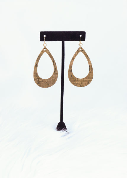 Cut Out Teardrop Earrings