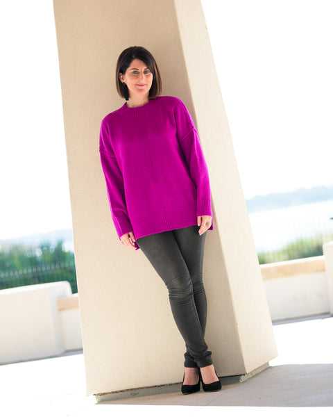 Fuchsia Oversized Sweater