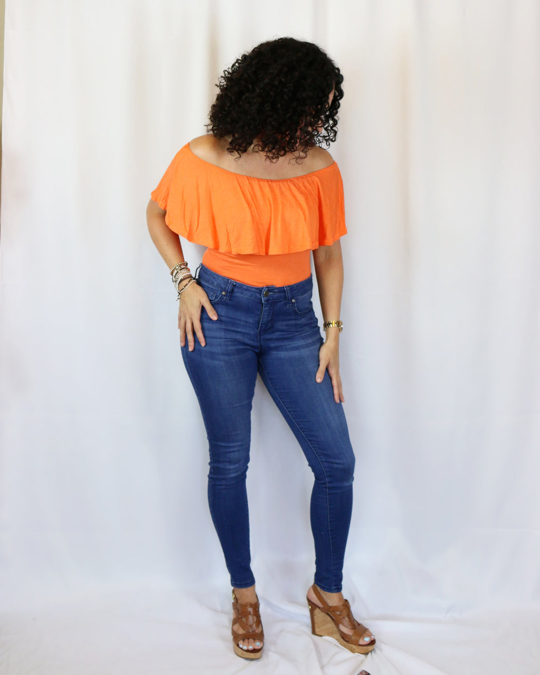 Orange Bodysuit