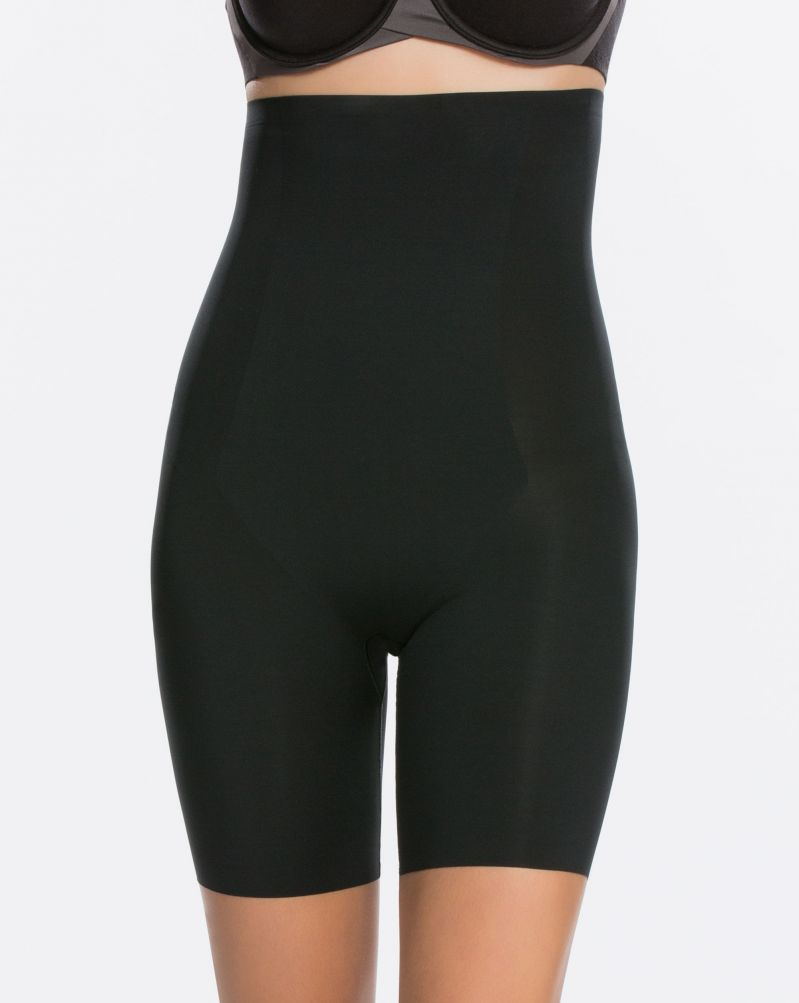 Thinstincts® High-Waisted Mid-Thigh Short 10006R in black
