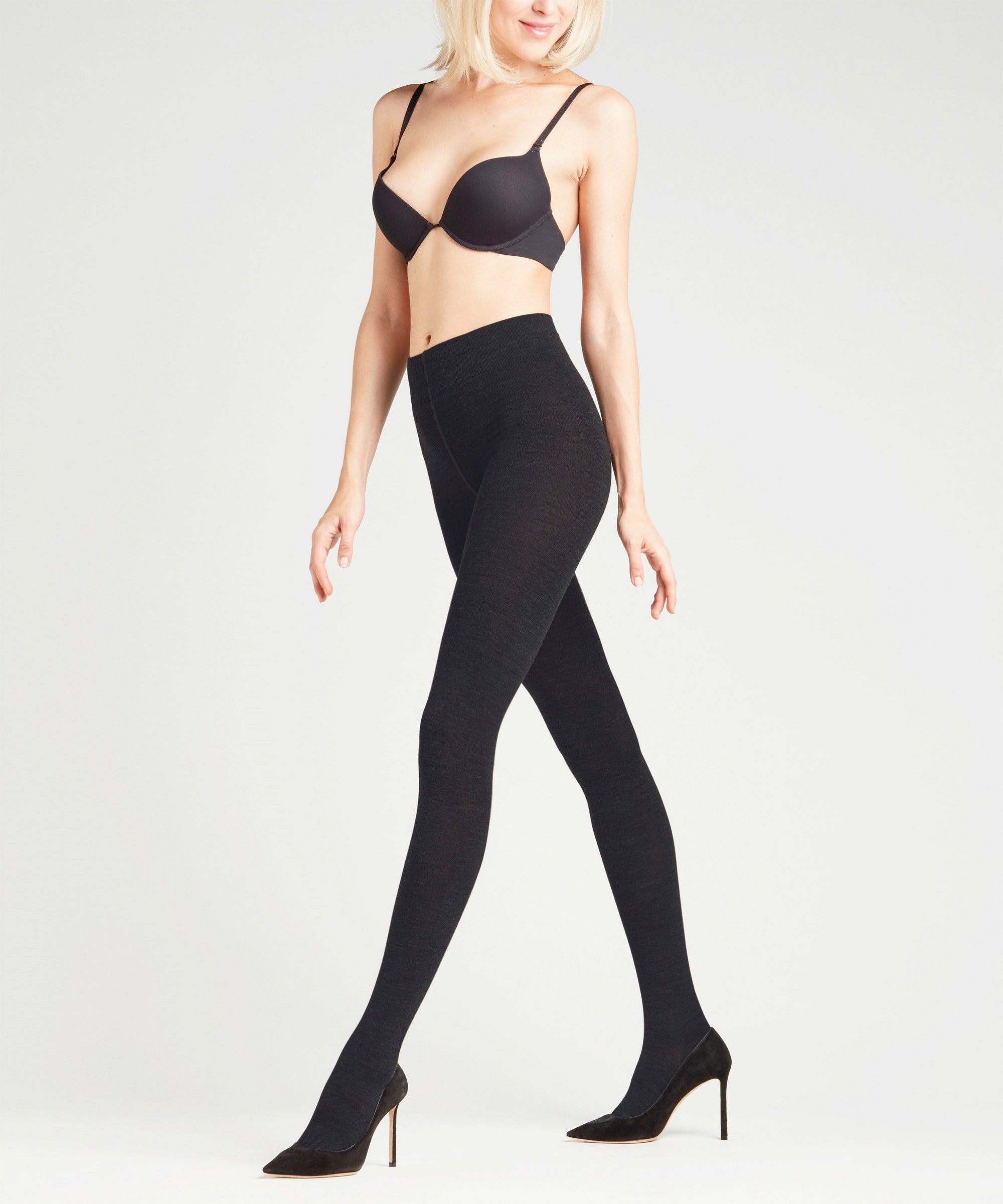 Falke Softmerino  Ull Tights Black
