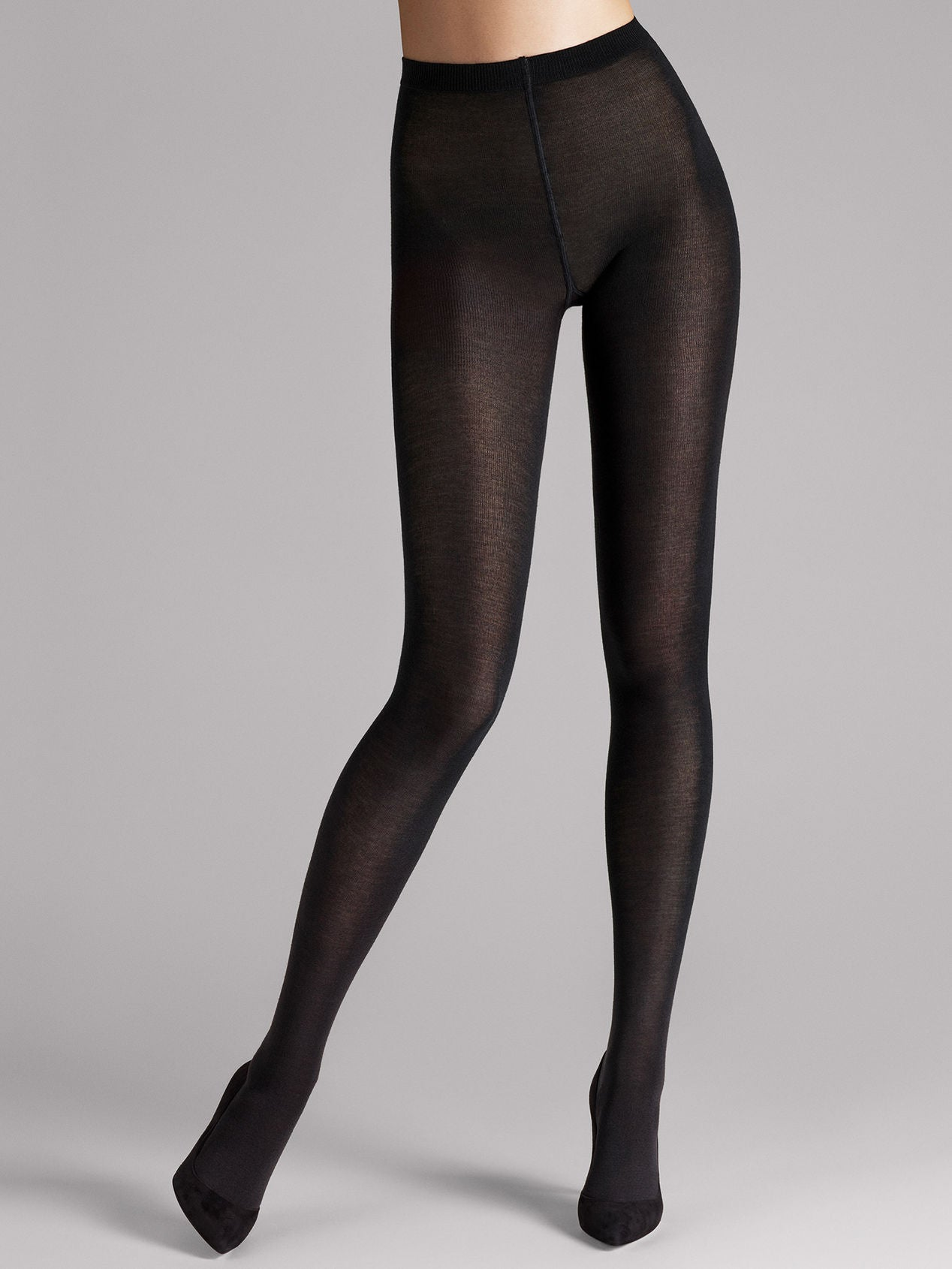 Wolford Merino Tights Black, ull strømpebukse i sort