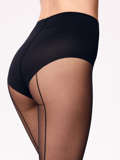 Wolford  Individual 10 Control Top  + søm bak tights