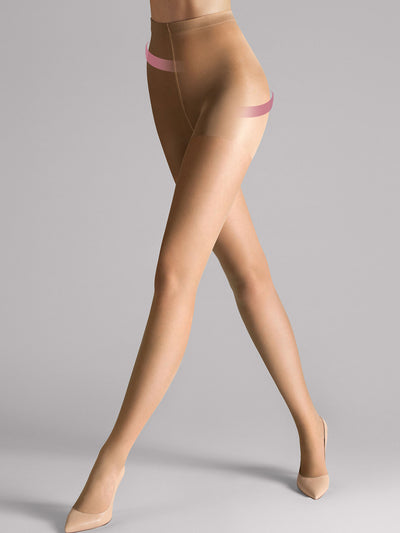 Wolford Individual 10 Control Top Tights in Sand