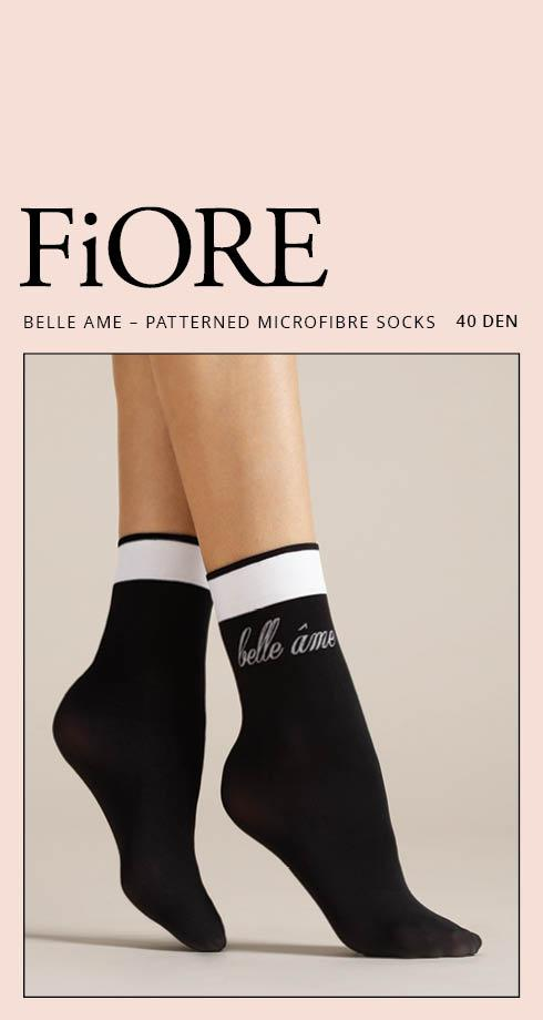 Fiore - BELLE AME  40 Denier  Sokker  Black/white
