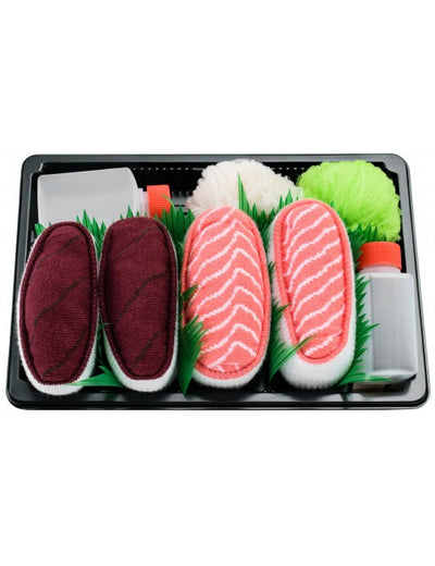 Sushi socks  -Nigirizushi with  tuna And Salmon , sushi sokker