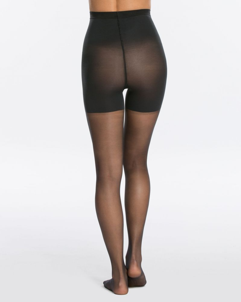 SPANX - 20025R Luxe Leg Mid-Thigh Shaping Sheers in black