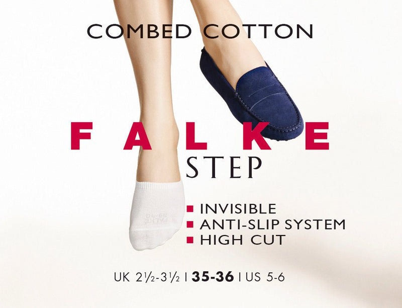 Falke Step No Show Socks White