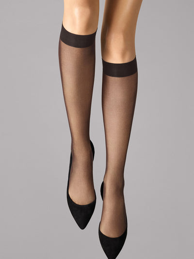 Wolford Individual 10 Knee-Highs Nearly Black