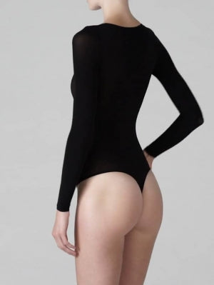 Wolford  Buenos Aires String Body Long Sleeve in black