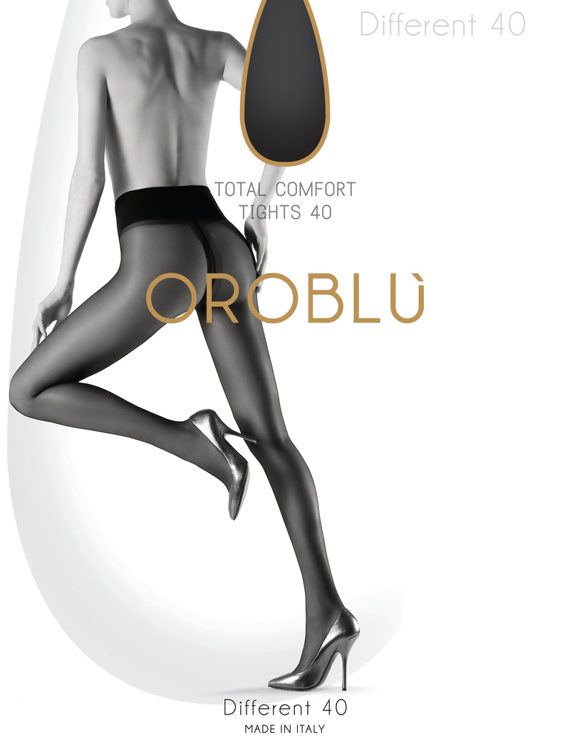 OROBLU Tights Different 40, Total comfort, BLACK