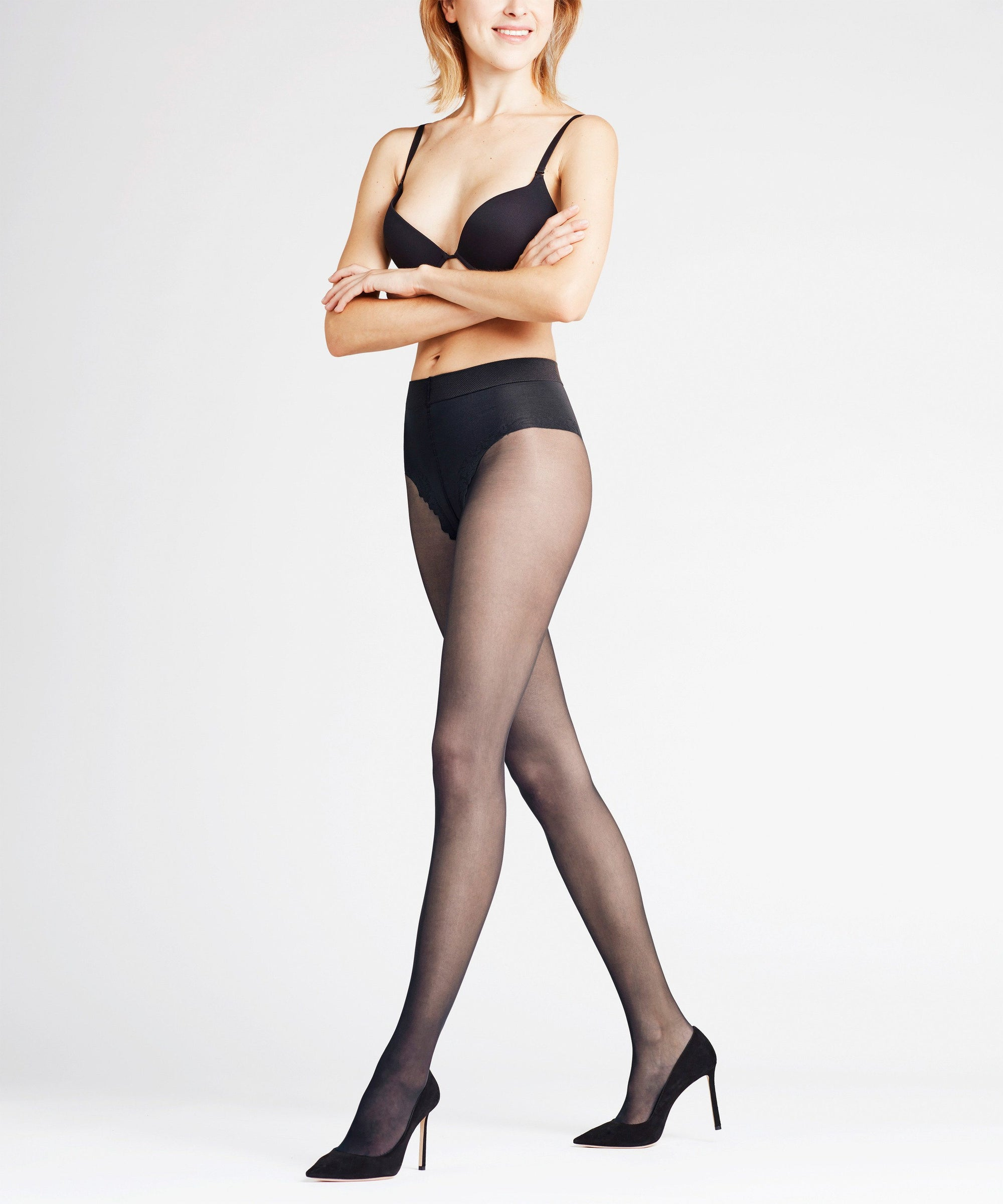 Falke Shaping Top 20 den Tights Black