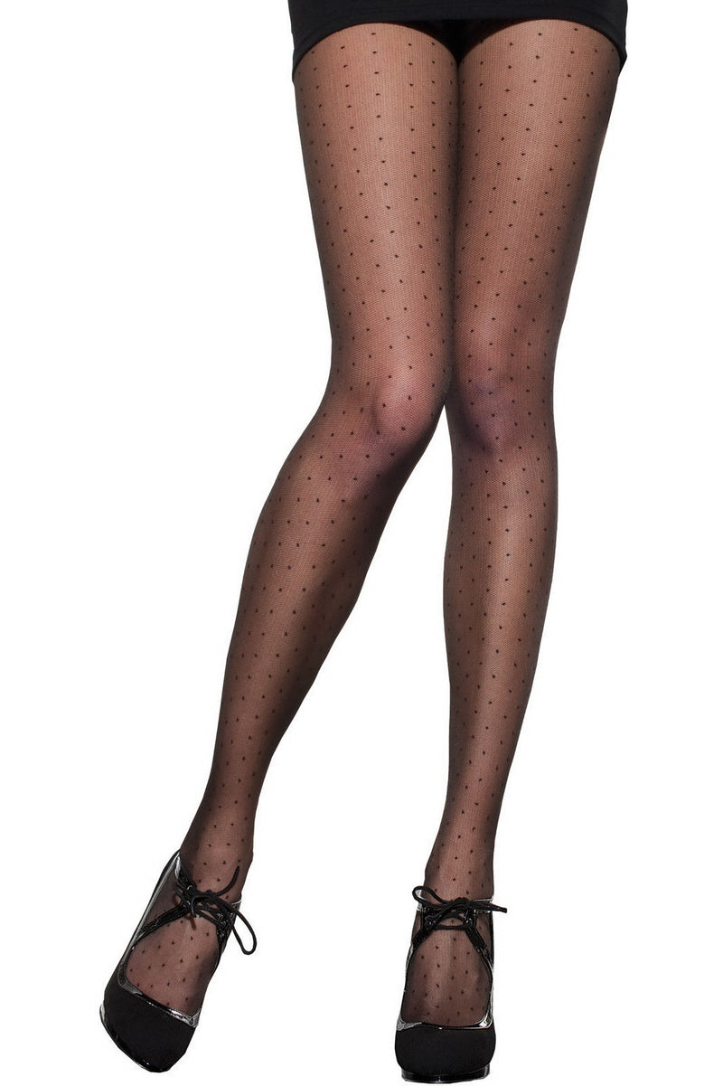 Fiore - DEZIRE Patterned Dot Tights 30 den